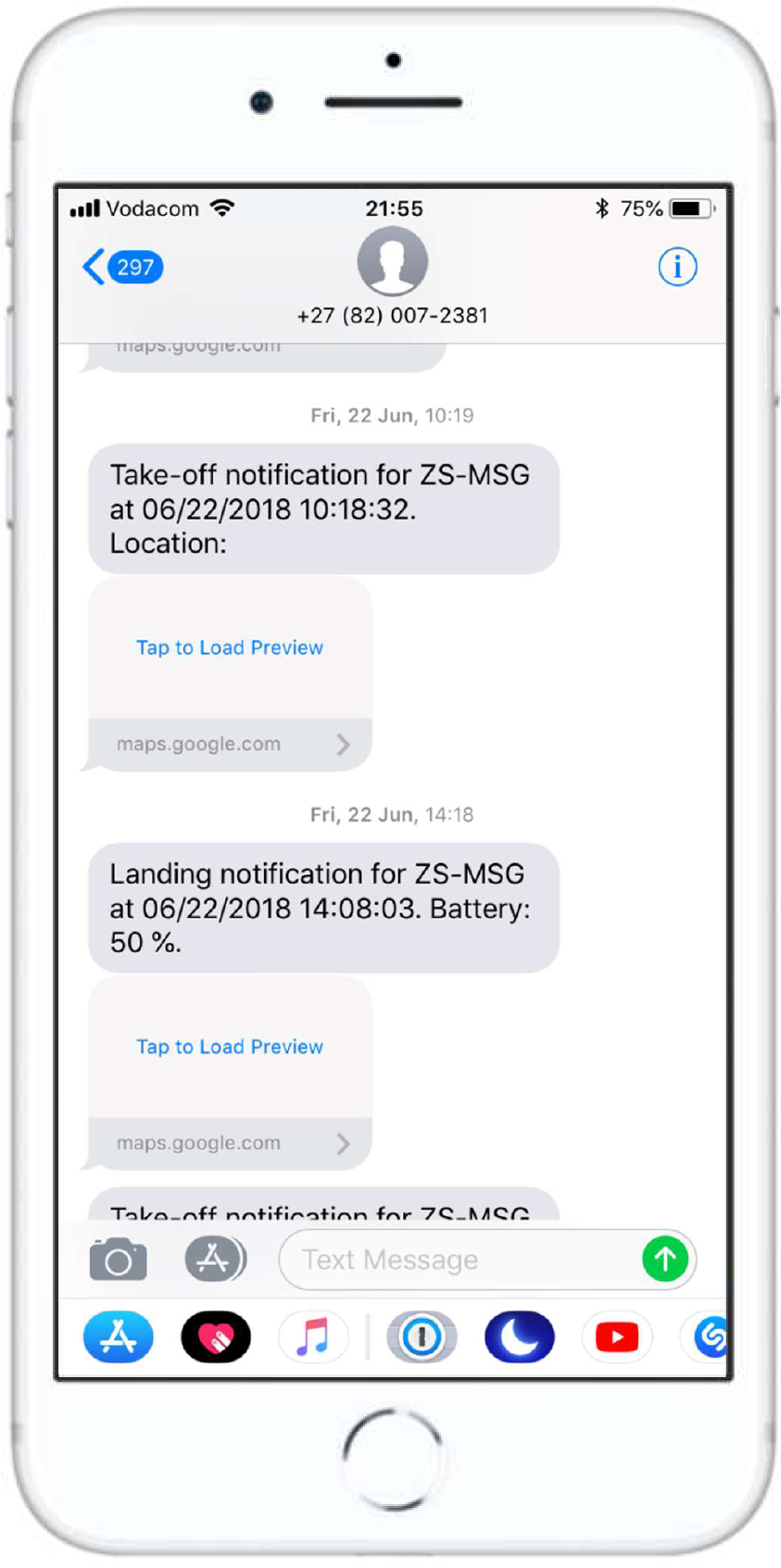 Beegle X-1 aircraft tracker SMS notifications
